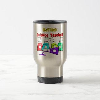 Retired Science Teacher Beeker Design Travel Mug