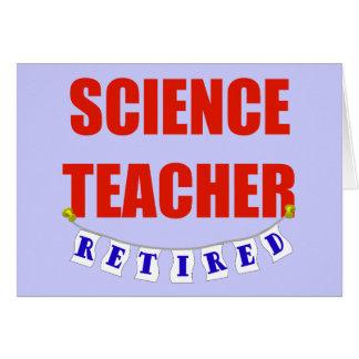 RETIRED SCIENCE TEACHER CARD
