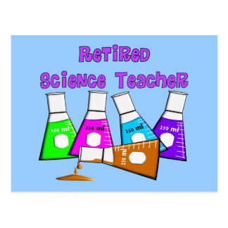Retired Science Teacher Gifts Postcard
