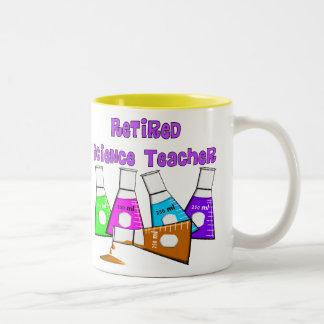 Retired Science Teacher Gifts Two-Tone Coffee Mug