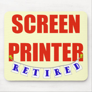 RETIRED SCREEN PRINTER MOUSE PAD
