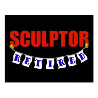 RETIRED SCULPTOR POSTCARD