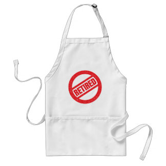 retired seal - round stamp adult apron