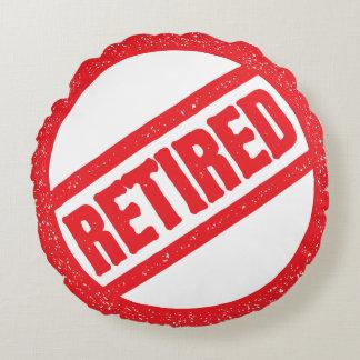 retired seal - round stamp round pillow