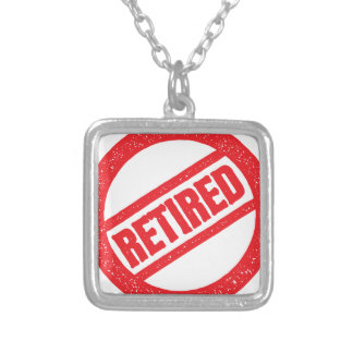 retired seal - round stamp silver plated necklace