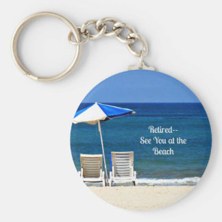 Retired - See You at the Beach Basic Round Button Keychain