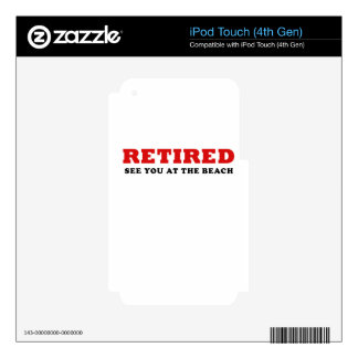 Retired See You at the Beach iPod Touch 4G Skin