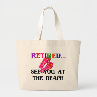 Retired - See You at the Beach Large Tote Bag