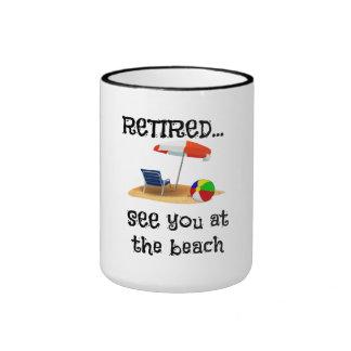 Retired...See You at the Beach Ringer Mug