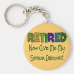 Retired SENIOR DISCOUNT Keychains