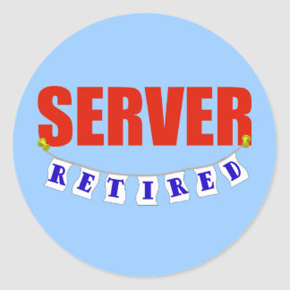 RETIRED SERVER CLASSIC ROUND STICKER