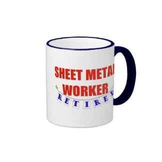 RETIRED SHEET METAL WORKER RINGER COFFEE MUG