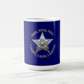 Retired Sheriff Badge Coffee Mug