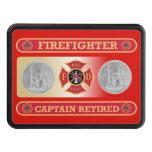 Retired Shield Hitch Cover del bombero de capitán Tapas De Remolque