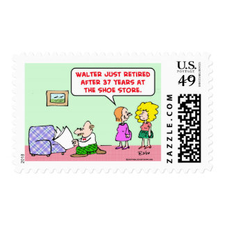 retired shoe store postage stamps
