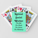 Retired Social Worker Bicycle Playing Cards