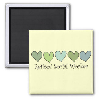 Retired Social Worker Gifts 2 Inch Square Magnet