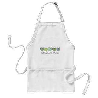 Retired Social Worker Gifts Adult Apron