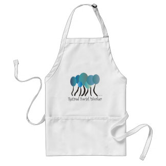 Retired Social Worker Gifts Artsy Trees Design Adult Apron