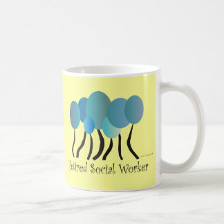 Retired Social Worker Gifts Artsy Trees Design Coffee Mug