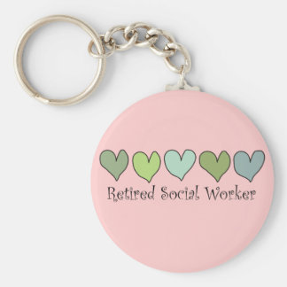 Retired Social Worker Gifts Basic Round Button Keychain
