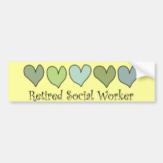 Retired Social Worker Gifts Bumper Sticker
