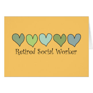 Retired Social Worker Gifts Card