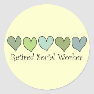 Retired Social Worker Gifts Classic Round Sticker