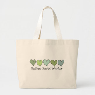 Retired Social Worker Gifts Large Tote Bag