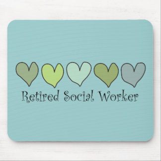 Retired Social Worker Gifts Mouse Pad
