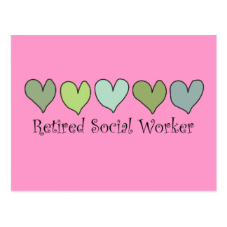 Retired Social Worker Gifts Postcard