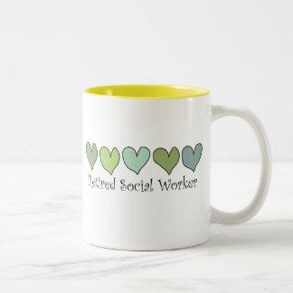Retired Social Worker Gifts Two-Tone Coffee Mug