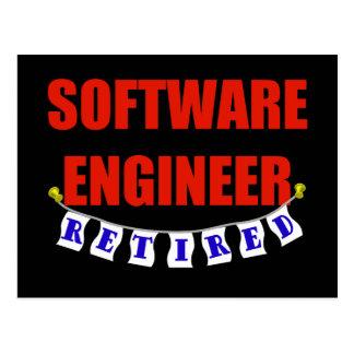 RETIRED SOFTWARE ENGINEER POSTCARD