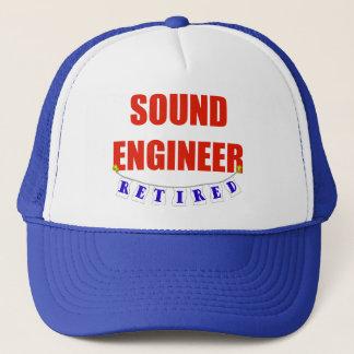RETIRED SOUND ENGINEER TRUCKER HAT