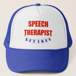 RETIRED SPEECH THERAPIST TRUCKER HAT