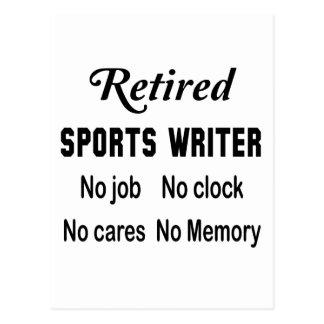 Retired Sports writer No job No clock No cares Postcard