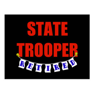 RETIRED STATE TROOPER POSTCARD