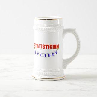 RETIRED STATISTICIAN BEER STEIN