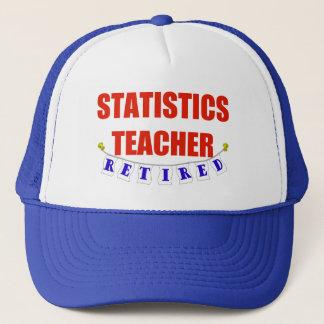 RETIRED STATISTICS TEACHER TRUCKER HAT