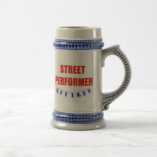 RETIRED STREET PERFORMER COFFEE MUGS