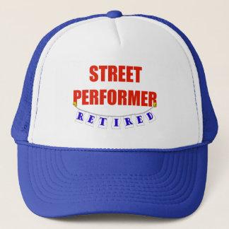 RETIRED STREET PERFORMER TRUCKER HAT