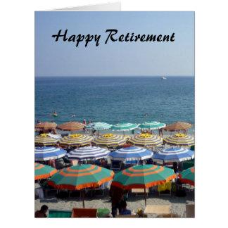 retired striped umbrellas big large greeting card
