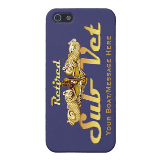 Retired Sub Vet Gold Dolphins iPhone Case