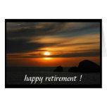 retired sunset greeting card