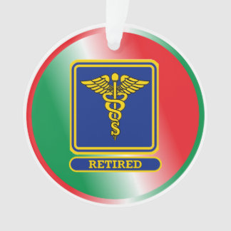 Retired Surgeon Caduceus Shield Ornament