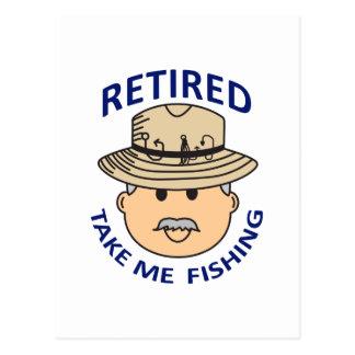RETIRED TAKE ME FISHING POSTCARD