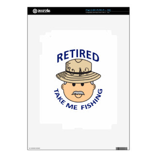 RETIRED TAKE ME FISHING DECALS FOR THE iPad 2