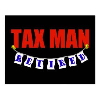 RETIRED TAX MAN POSTCARD