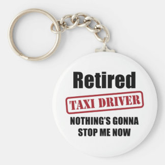 Retired Taxi Driver Keychain
