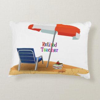 Retired Teacher Accent Pillow